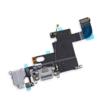 Шлейф iPhone 6 на системный разъем/разъем гарнитуры/микрофон Белый