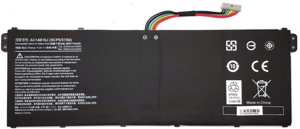 Аккумулятор для Acer V3-111 E3-111 E3-112 ES1-511 ORG (11.4V 3115mAh) PN: AC14B18J